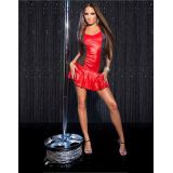 Sexy KouCla GoGo-minidress with pleated skirt