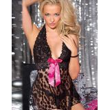 Black Transparent Chemise