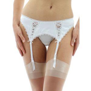 Sexy white satin garter