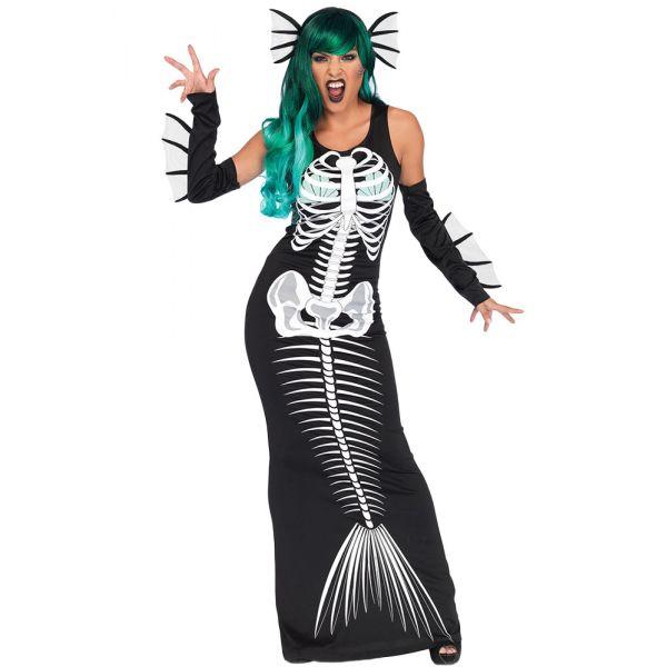 карнавальный костюм косплей скелет сирена