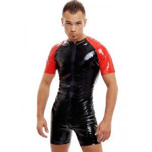 Sexy Wetlook Short Sleeve Bodysuit