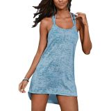 Light Blue Braided Racerback Burnout Beach Dress по оптовой цене