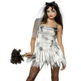 Sexy Halloween Death Zombie Bride Costume