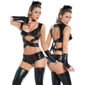 Sexy bodysuit kitty string
