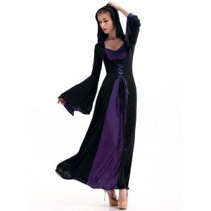 purple floor length gothic dress costume