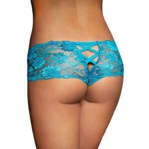 Blue Lace Naughty Knicker