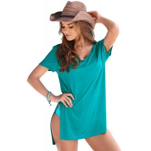 Mint Cozy Short Sleeves T-shirt Cover-up - Пляжная одежда