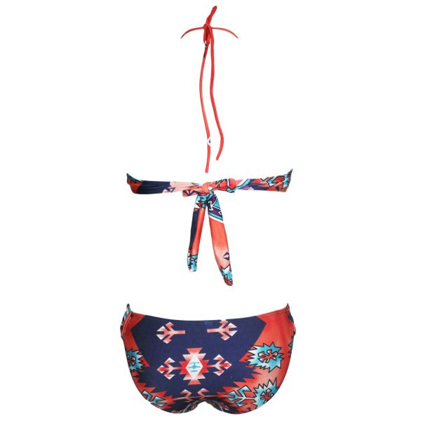 Tribe Fringed Halter Crop Top with Bottom