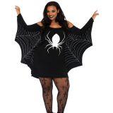 Black XL-3XL Fashion Spiderweb halloween Costume