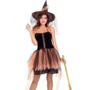 lace up emerald witch costume
