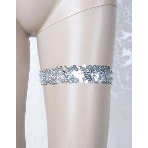 Silver Sequined Garter