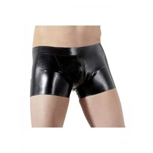 Sexy Vinyl Underwear With Zipper Men