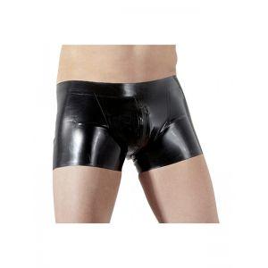 Sexy Men Vinyl Underwear With Zipper