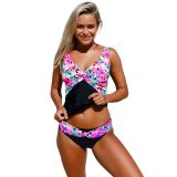 Kaleidoscope Insert Two Piece Tankini Swimsuit