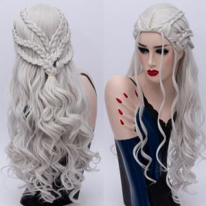 РАСПРОДАЖА! Парик длинная волна с косами Дейенерис Таргариен - Парики