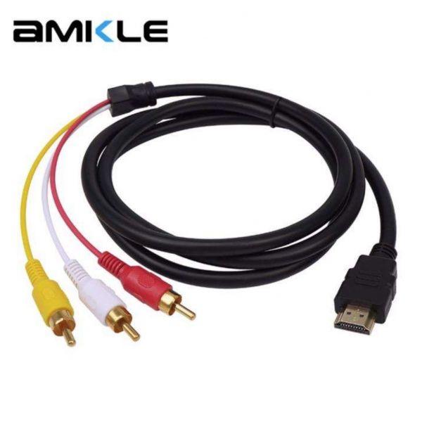 РАСПРОДАЖА! Кабель переходник HDMI 3 RCA аудио-видео