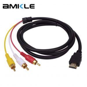 РАСПРОДАЖА! Кабель переходник HDMI 3 RCA аудио-видео - СВЕЖИЕ ПОСТУПЛЕНИЯ!
