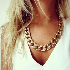 SALE! Fashion jewelry Golden chain