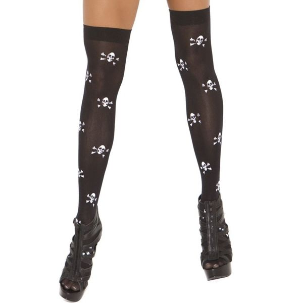 Halloween Favourite Skull Thigh High Stockings
