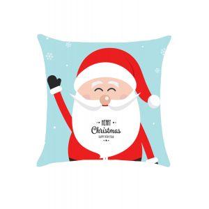 Amiable Cartoon Santa Christmas Throw Pillow Cover