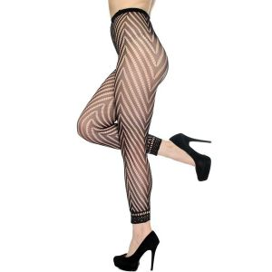 Sexy Hosiery Fashion Fishnet Footless Tights W Chevron Panthose - СВЕЖИЕ ПОСТУПЛЕНИЯ!