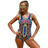 Moroccan Dreams Tribal Print One Piece Swimsuit