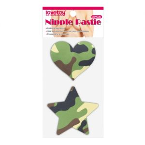 Camo Stars and Heart Nipple Pasties (2 Pack) - СВЕЖИЕ ПОСТУПЛЕНИЯ!