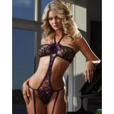 Purple Haler Lace Teddy Lingerie