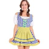 Traditional French Maid Costume For Women Yellow