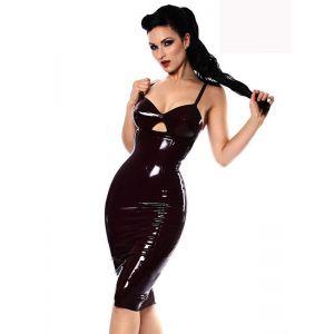 Sexy Black Wetlook Mini Dress