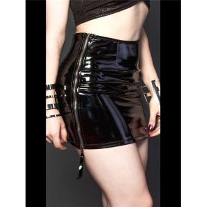 Sexy Women Wetlook Skirt