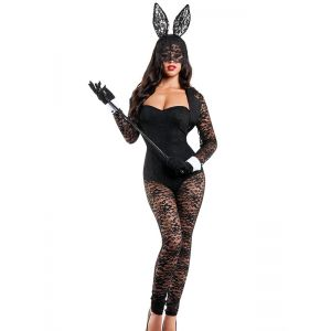 Sexy Lace Bunny Costume Jumpsuit