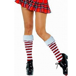 Red and White Stripe Stocking