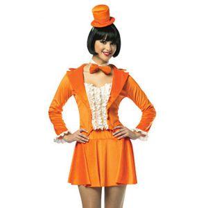 Оранжевый маскарадный костюм из фильма Тупой еще тупее