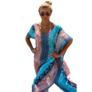 Chic Graphic Miami Beach Kaftan Poncho - СВЕЖИЕ ПОСТУПЛЕНИЯ!