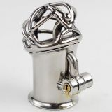 Stainless Steel PA Lock 6mm Glans Piercing Male Chastity Device Albert Piercing