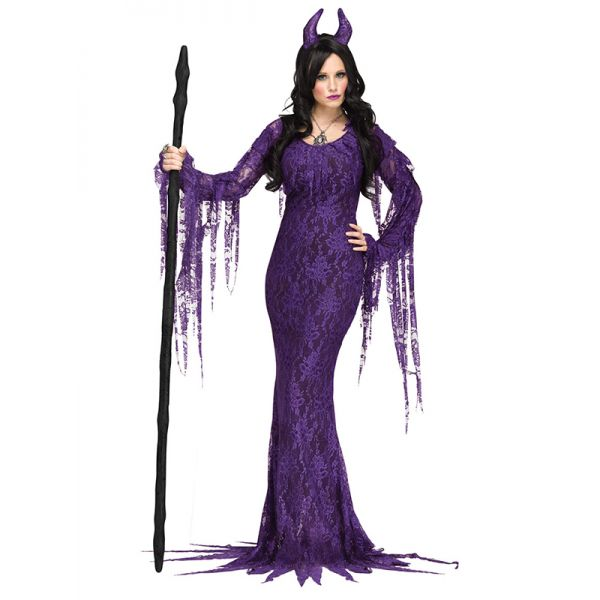 Women Purple Halloween Party Long Dress