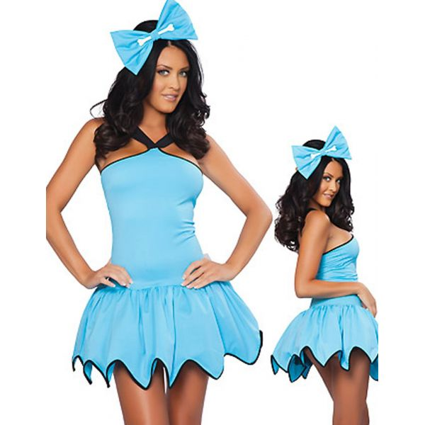 Solid Blue Gear Hem Costume