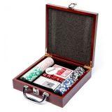 РАСПРОДАЖА! Набор для покера 100 Pc Poker Game Set (в деревянном кейсе) по оптовой цене