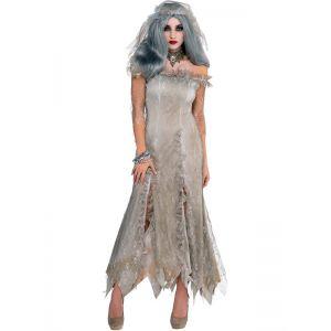 Women Gray Bride Costume Dresses