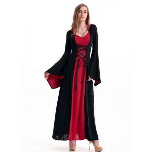 Red Floor Length Gothic Dress Costume