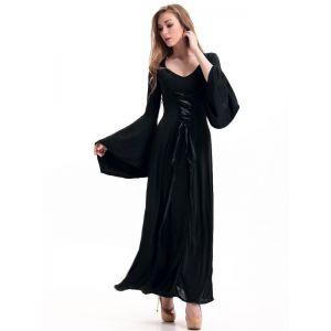 Black Floor Length Gothic Dress Costume