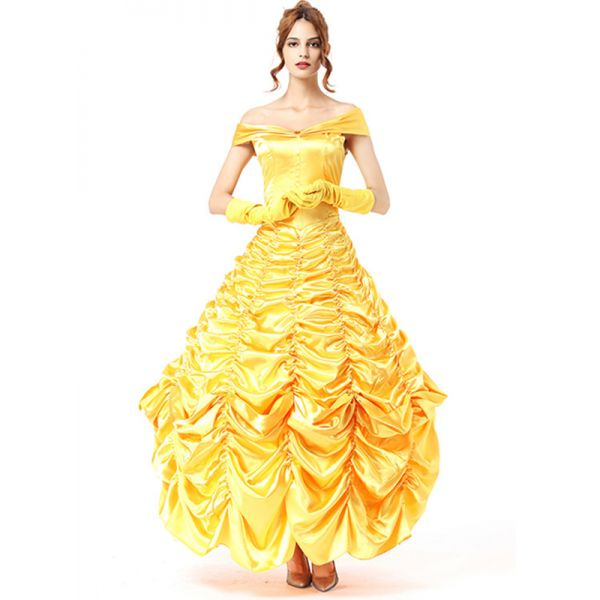 Yellow One Size Off Shoulder Deluxe Costume