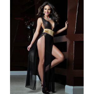 high Waist Long Sheer Gown