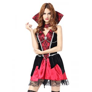 Red One Size Sleeveless halloween Costume