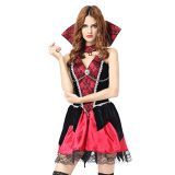 Red One Size Sleeveless halloween Costume