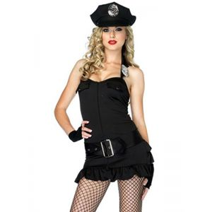 Black Sleeve Police Costume with hat