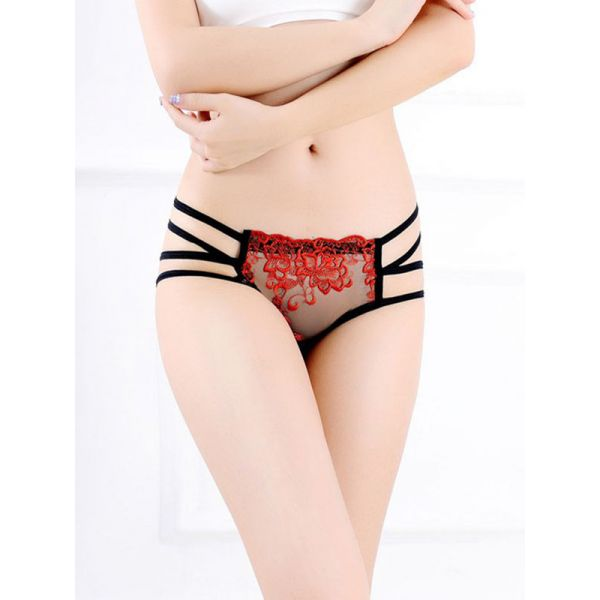 Red One Size Sexy Women Panties