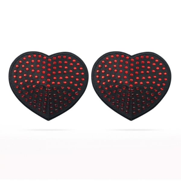 Reusable Red Diamond Heart Nipple Pasties