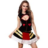 Colorful L Keyhole Queen of Hearts Costume